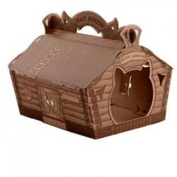 Domek dla kota Cat House - brązowy