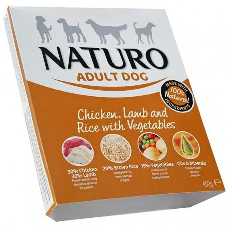 Naturo Adult Kurczak i jagnięcina z ryżem i warzywami