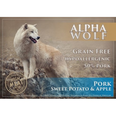AlphaWolf Grain Free Wieprzowina z batatami i jabłkiem