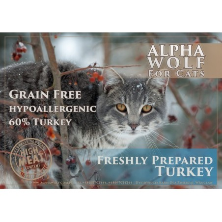 AlphaWolf for Cats Turkey - indyk