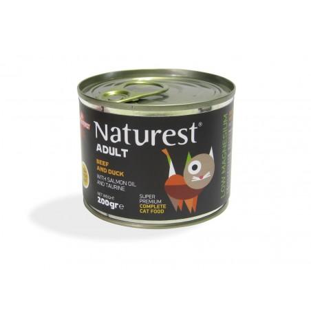 Naturest Wołowina i kaczka z olejem z łososia i tauryną
