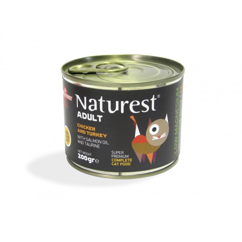 Naturest Kurczak i indyk z olejem z łososia i tauryną