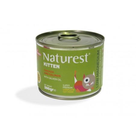 Naturest Kitten Kurczak i łosoś z olejem z łososia i tauryną