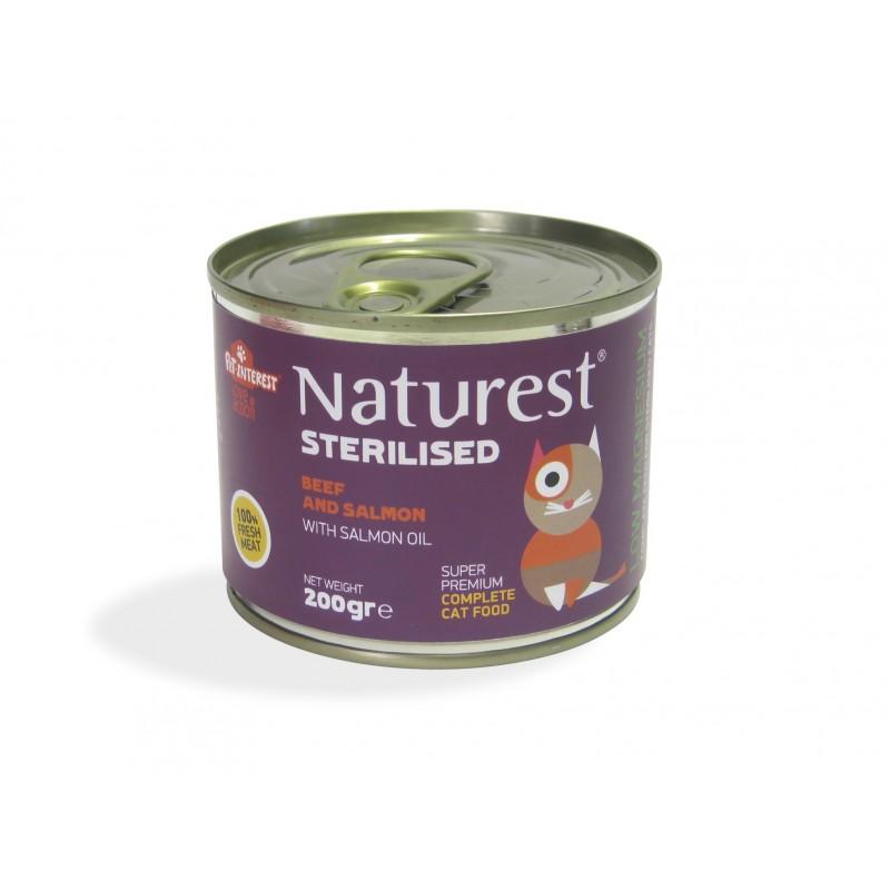 Naturest Sterilised Wołowina i łosoś z olejem z łososia