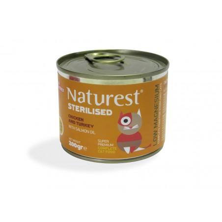 Naturest Sterilised Kurczak z indykiem i olejem z łososia