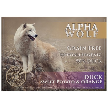 AlphaWolf Grain Free Duck Sweet Potato&orange