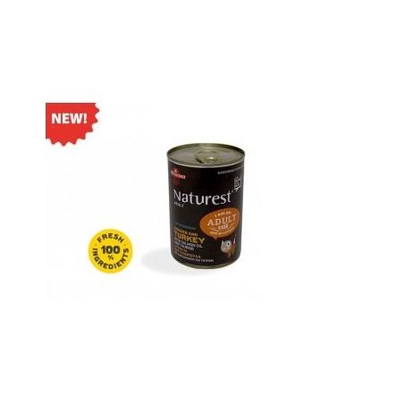 Naturest Kurczak i indyk z olejem z łososia i tauryną 400 g