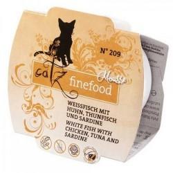 Catz FineFood Mus N. 209 Biała ryba, kurczak, tuńczyk i sardynka