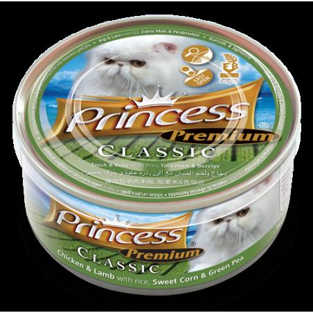 Princess Premium Cat - puszka (kurczak, jagnięcina, ryż)