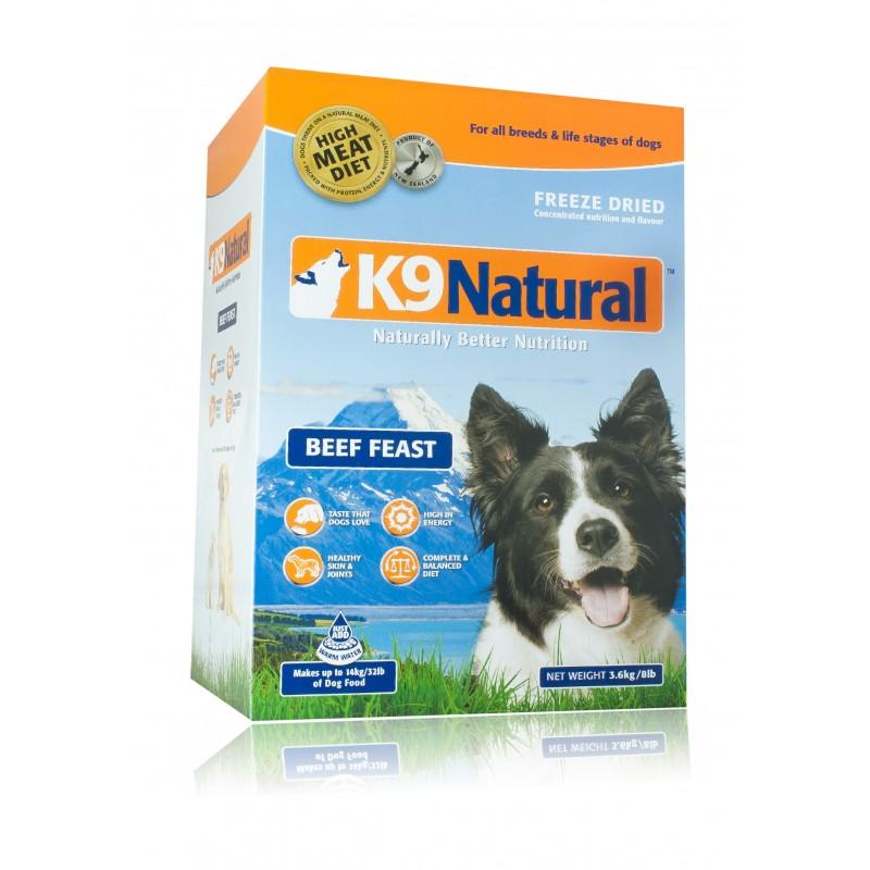 K9 Natural Lamb Feast - wołowina 0,5 kg (2 kg)