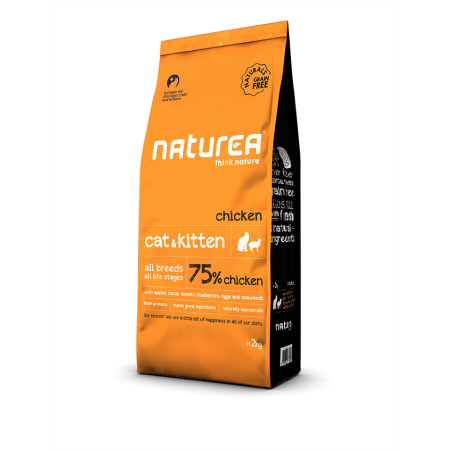 Naturea Naturals Cat end Kitten Kurczak 7 kg