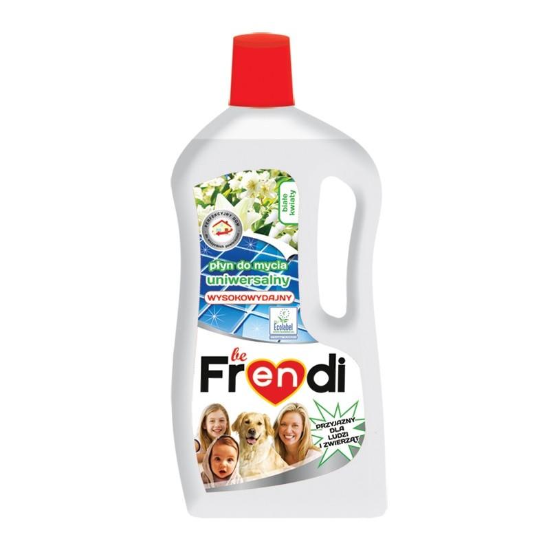 Płyn do podłóg uniwersalny BE FRENDI 1L Białe kwiaty