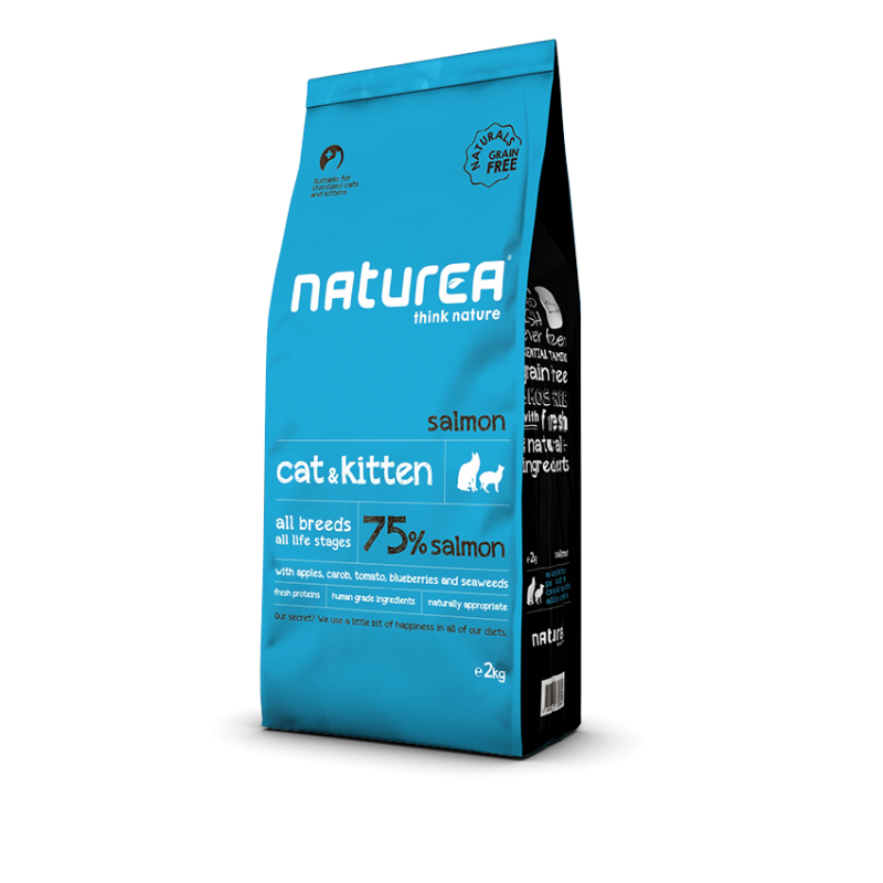 Naturea Naturals Cat end Kitten Łosoś