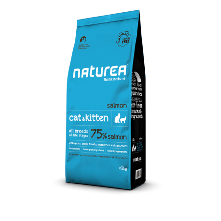 Naturea Naturals Cat end Kitten Łosoś 100g