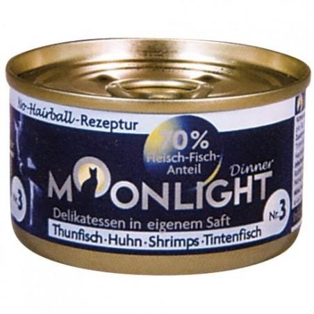 Moonlight Dinner nr 3 - tuńczyk, kurczak, krewetki i kałamarnica w sosie