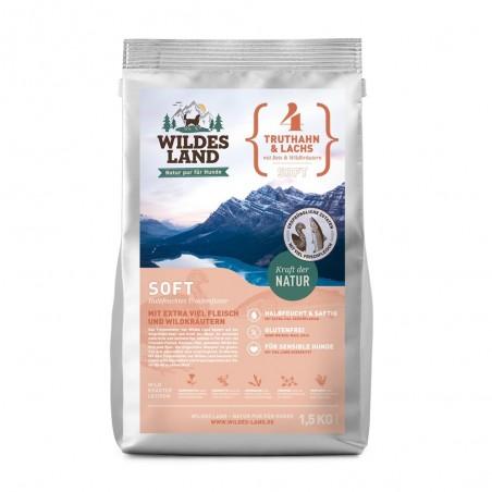 Wildes Land - soft Indyk z łososiem z ryżem i ziołami 1,5 kg