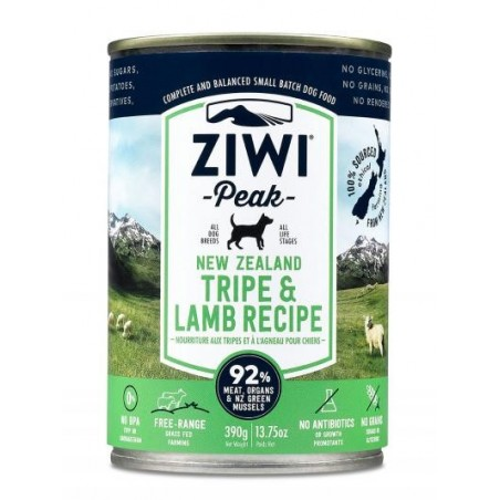 ZiwiPeak Canned Dog Food Tripe & Lamb - żwacze z jagnięciną