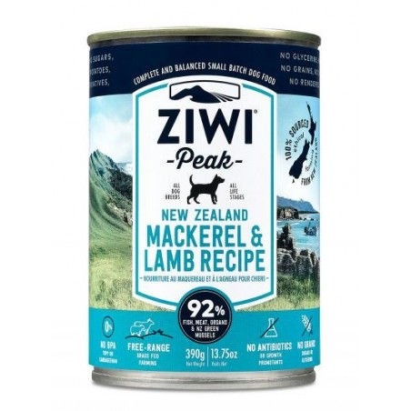 ZiwiPeak Canned Dog Food Mackerel & Lamb - makrela z jagnięciną