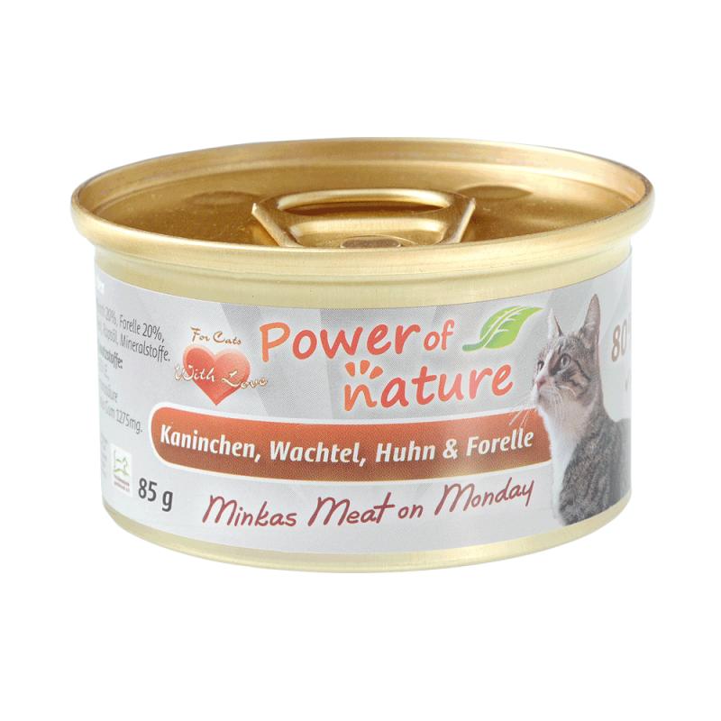 Power of Nature Minkas Meat on Monday - królik, przepiórka, kurczak i pstrąg 85g
