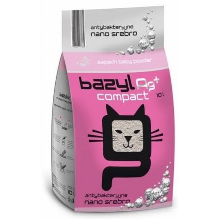 Żwirek Bazyl Compact Baby Powder +Ag 10l