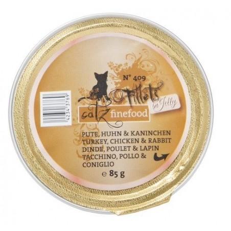 Catz Finefood Filety N.409 Indyk/Kurczak/Królik