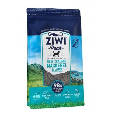 ZiwiPeak Air Dried Dog Food Mackerel & Lamb Makrela z jagnięcina 2,5 kg