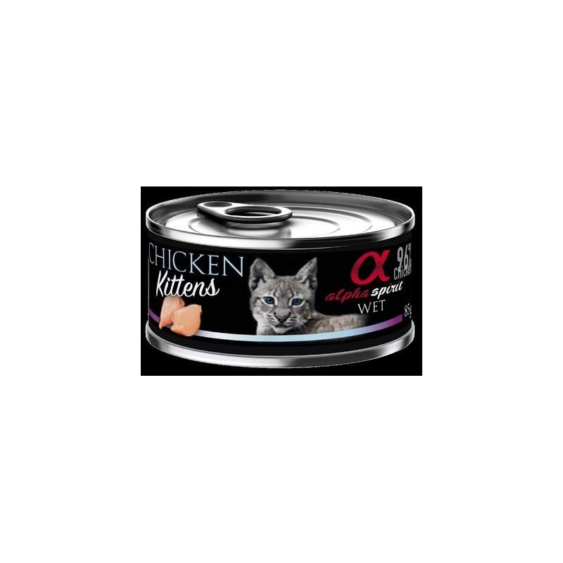 Alpha Spirit Kitten - kurczak dla kociąt 85g