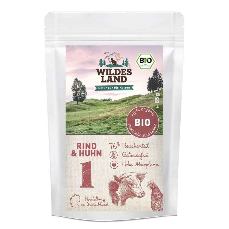 Wildes Land Cat BIO nr 1 - wołowina z kurczakiem 85 g