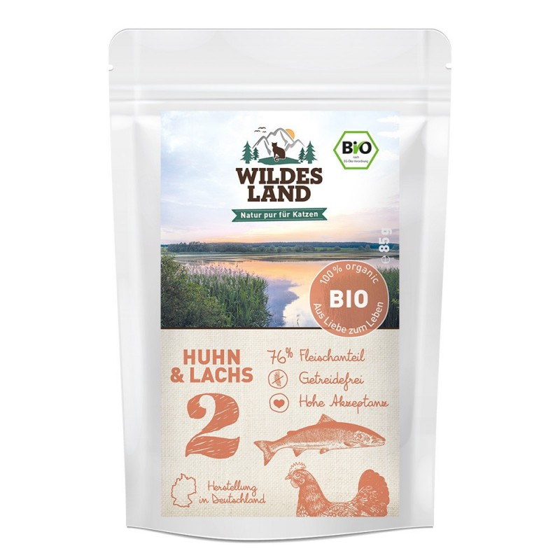 Wildes Land Cat BIO nr 2 - kurczak i łosoś 85 g