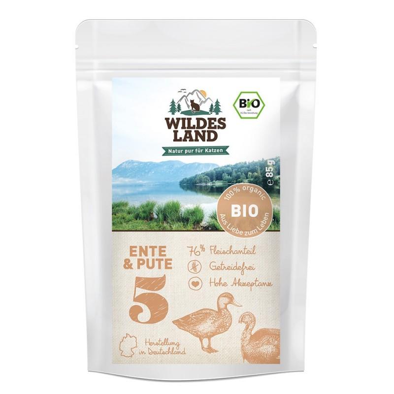Wildes Land Cat BIO nr 5 - Indyk i kaczka 85 g