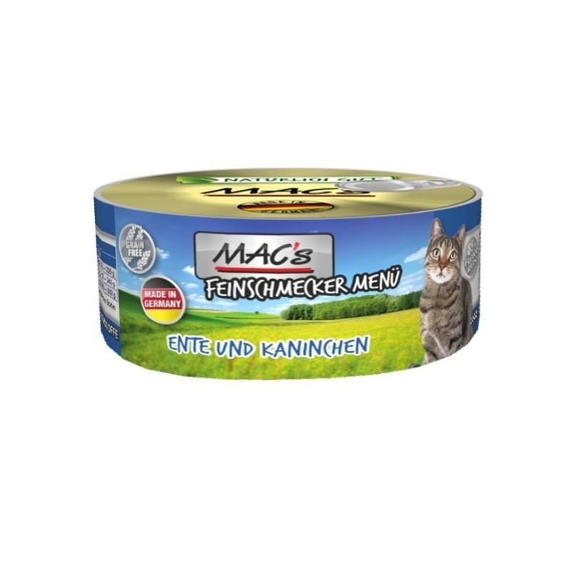 MAC's Feinschmecker Kaczka z królikiem 100g