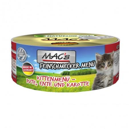 MAC's Feinschmecker Kitten Indyk, kaczka z marchewką 100g