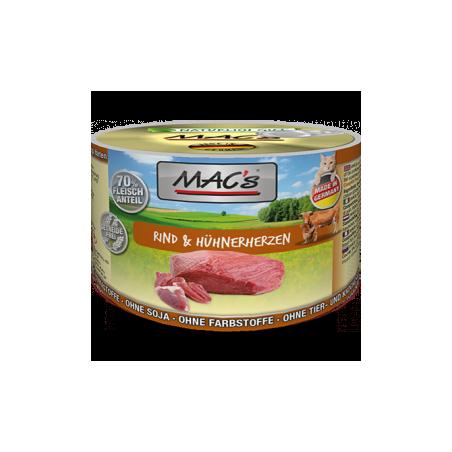 MAC's Wołowina i serca kurczaka 200g