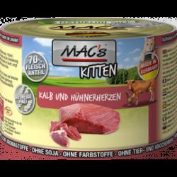 MAC's Kitten Cielęcina i serca kurczaka 200g