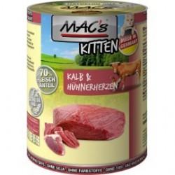 MAC's Kitten Cielęcina i serca kurczaka 400g