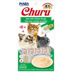 Churu przysmak dla kotów Tuńczyk i kurczak 4x14g