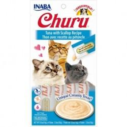 Churu przysmak dla kotów Tuńczyk i przegrzebki 4x14g