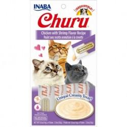 Churu przysmak dla kotów Kurczak z krewetką 4x14g
