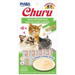 Churu przysmak dla kotów Kurczak i przegrzebki 4x14g