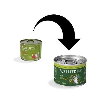 Naturest/Wellfed Kitten Kurczak i łosoś z olejem z łososia i tauryną