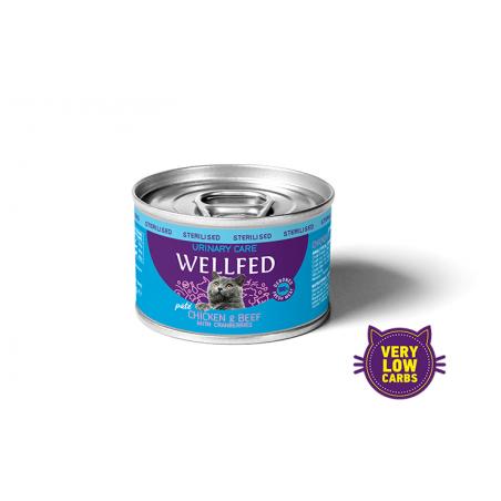 Wellfed Sterilised Urinary - kurczak z wołowiną 200g
