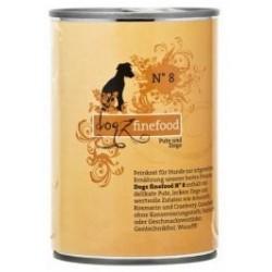 Dogz Finefood nr.08 indyk i koza puszka 400g