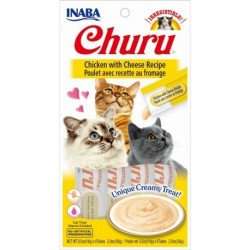Churu przysmak dla kotów Kurczak i ser 4x14g