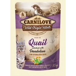 Carnilove Cat Pouch Quail and dendelion sterilized 85g - przepiórka