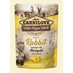 Carnilove Kitten Pouch Rabbit & marigold 85g - królik