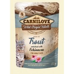 Carnilove Cat Pouch Trout & echinacea 85g - pstrąg