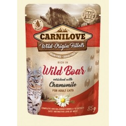 Carnilove Cat Pouch Wild Boar & chamomile 85g - dzik
