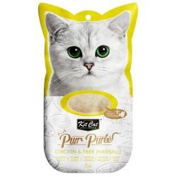 Kit Cat PurrPuree CHICKEN & FIBER HAIRBALL - Kurczak & Błonnik 4x15g