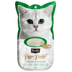 Kit Cat PurrPuree CHICKEN & SCALLOP - Kurczak & przegrzebki 4x15g