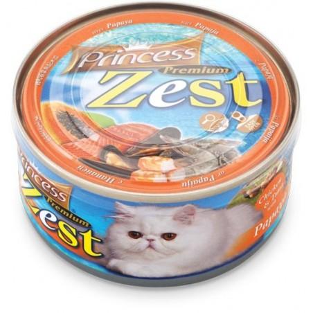 Princess Premium Zest Cat - Kurczak, Tuńczyk i Papaja